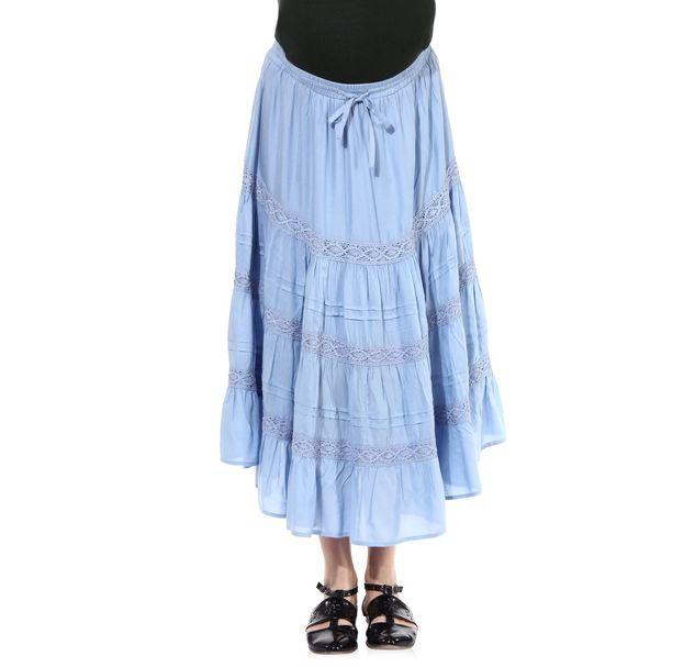 Maternity Blue Skirt