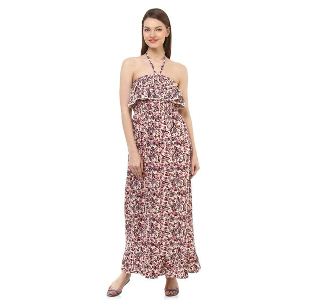Women Floral Halter Dress