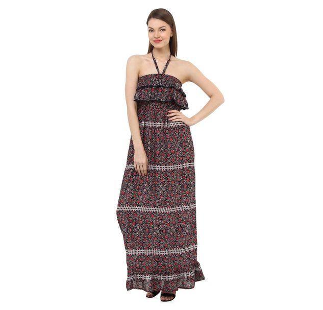 Women Multi Halter Dress
