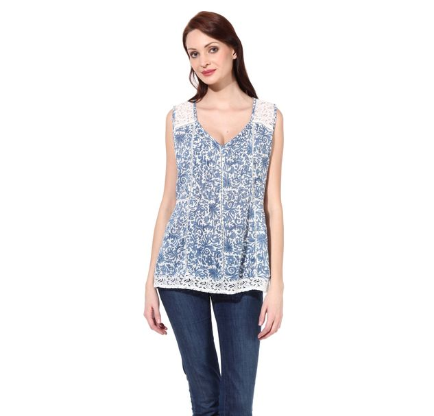 Women Cotton Lace Top