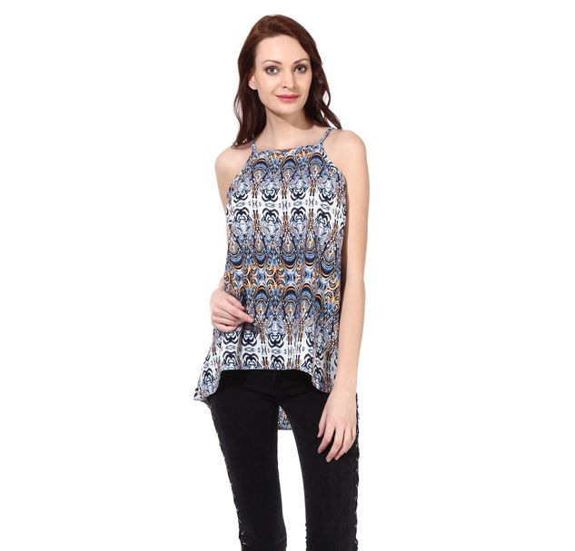 Women Printed Asymmetric Top