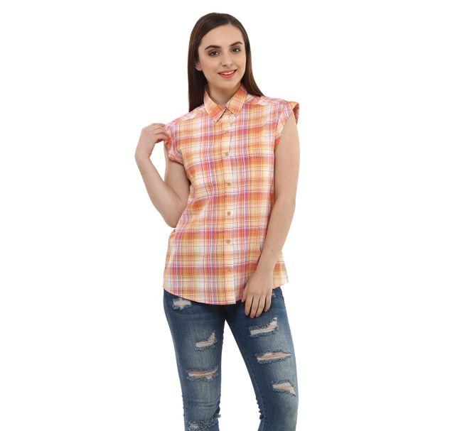 Women Cotton Check Shirt