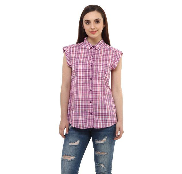 Women Check Cotton Shirt