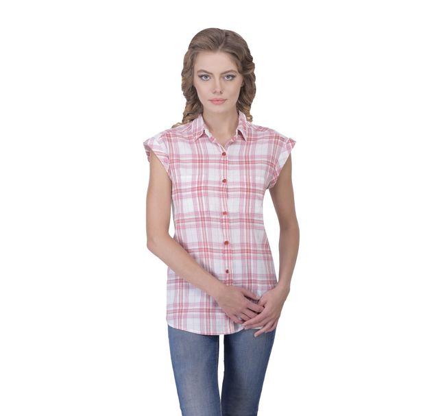 Women Red Cotton Shirt