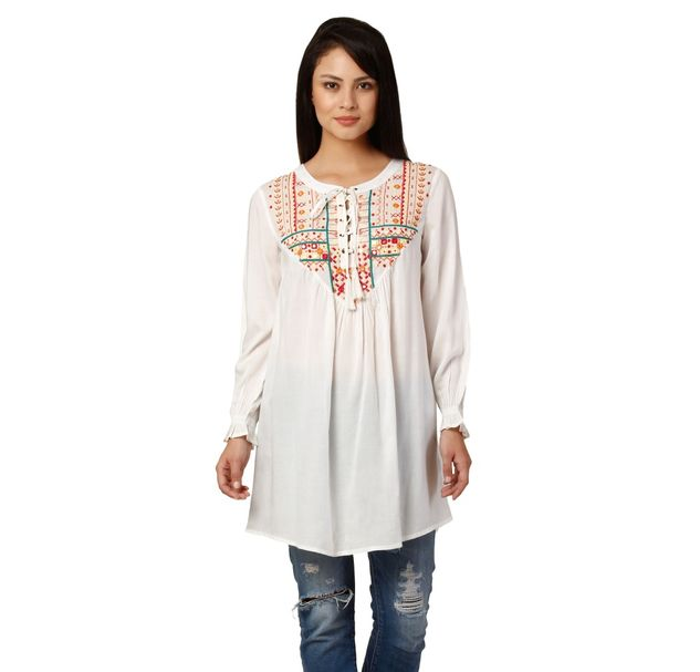 Women Embroidered Tunic