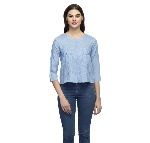 Women Embroidered Stylish Top