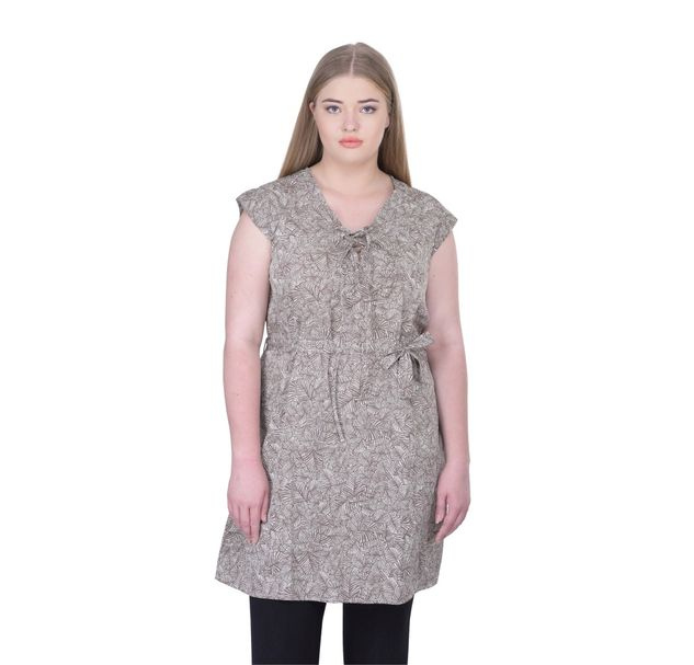 Plus Size Brown Tunic
