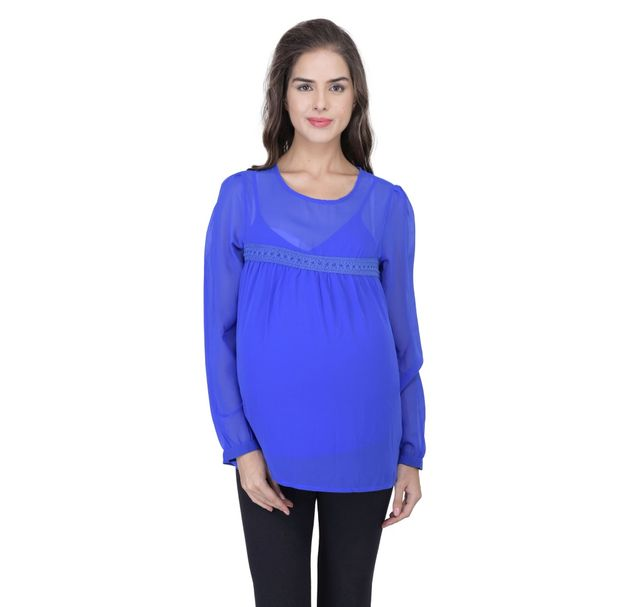 Maternity Stylish Blue Top