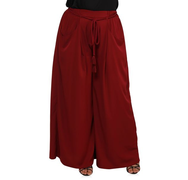 Plus Size Red Palazzos