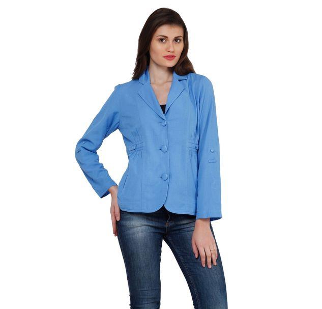 Women Linen Blazer