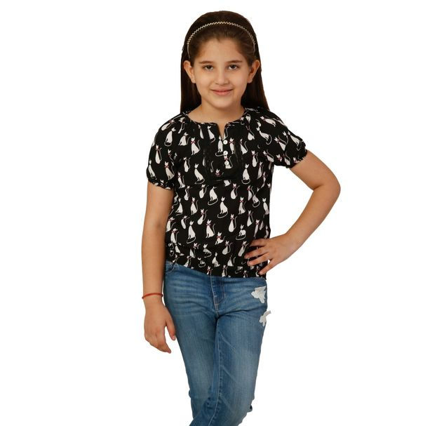 Girls Lace Summer Top