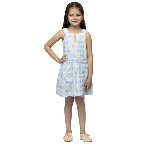 Girls Cotton A-Line Dress