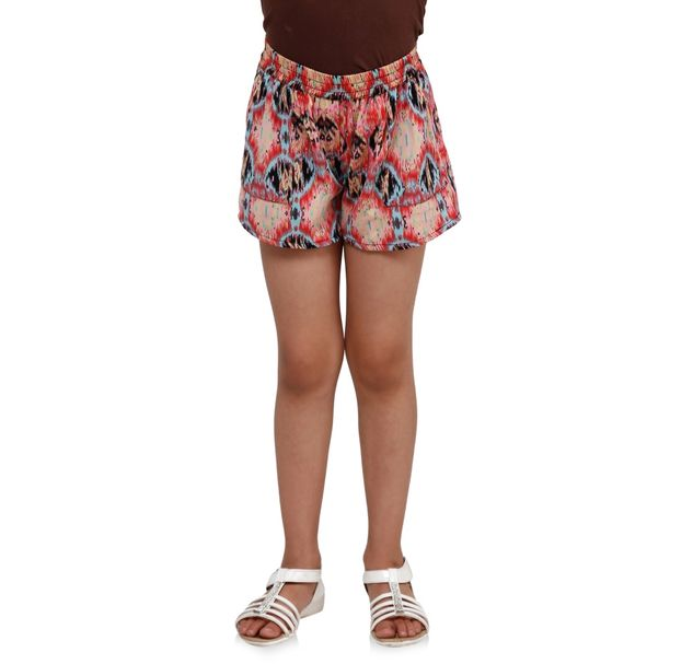 Girls Trendy Printed Shorts