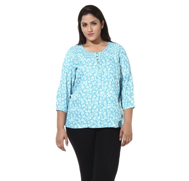 Plus Size Floral Top