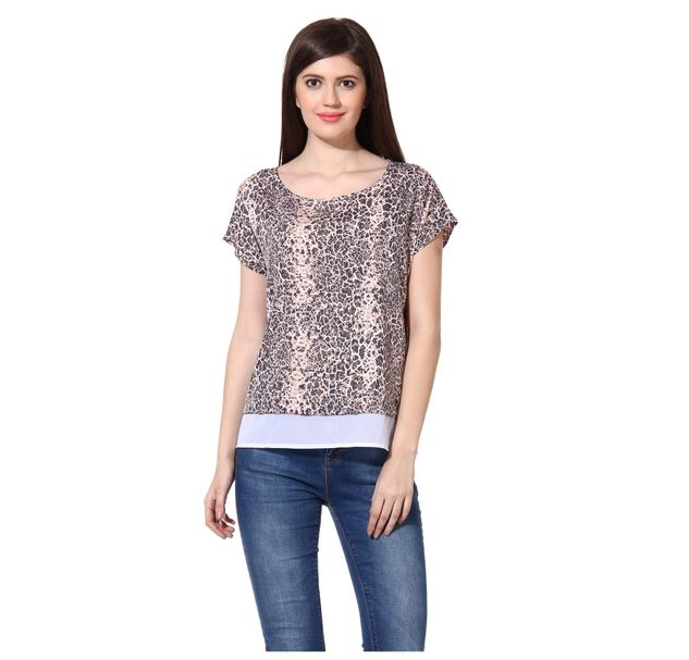 Women Printed Layer Top