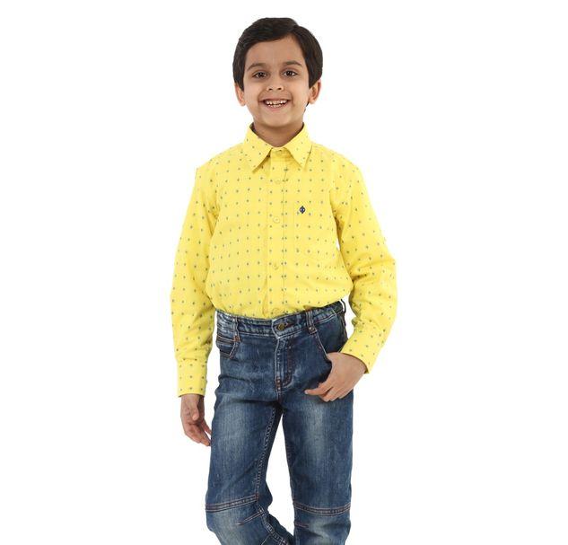 Boys Yellow Casual Shirt
