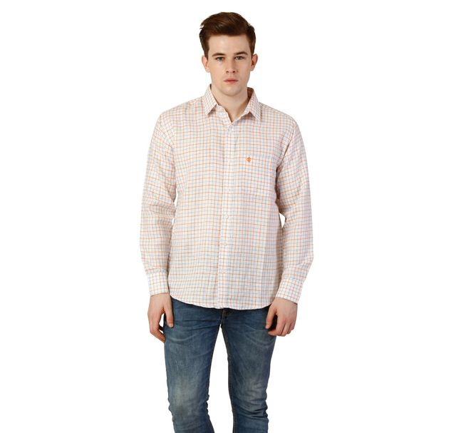 Men Pink Check Shirt