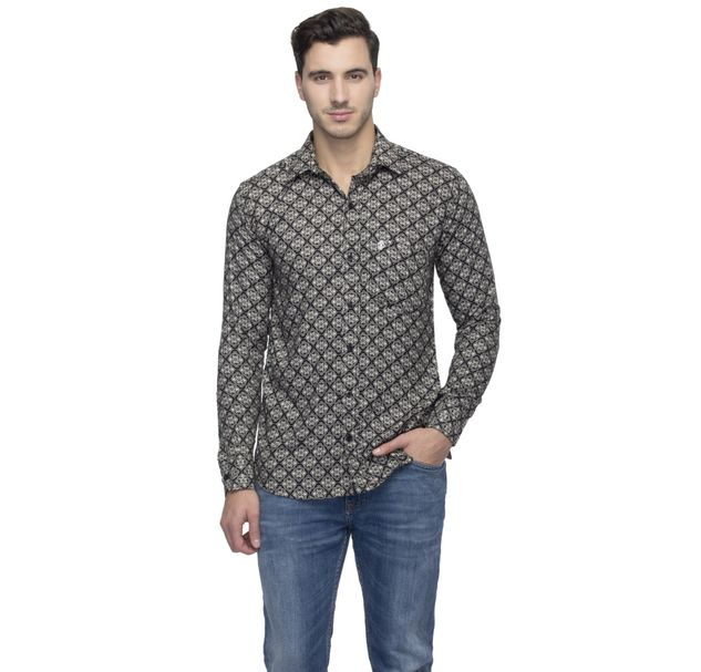 Men Monochrome Shirt