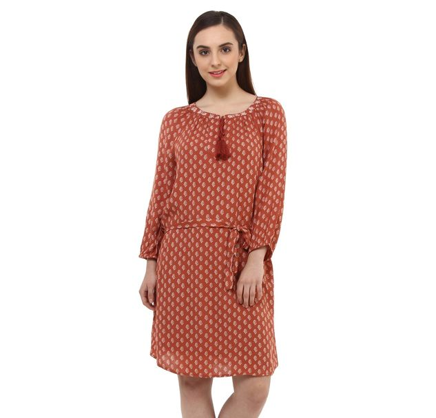 Women Brown Shift Dress