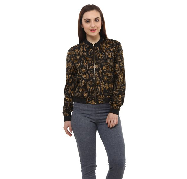Women Trendy Bomber Jacket