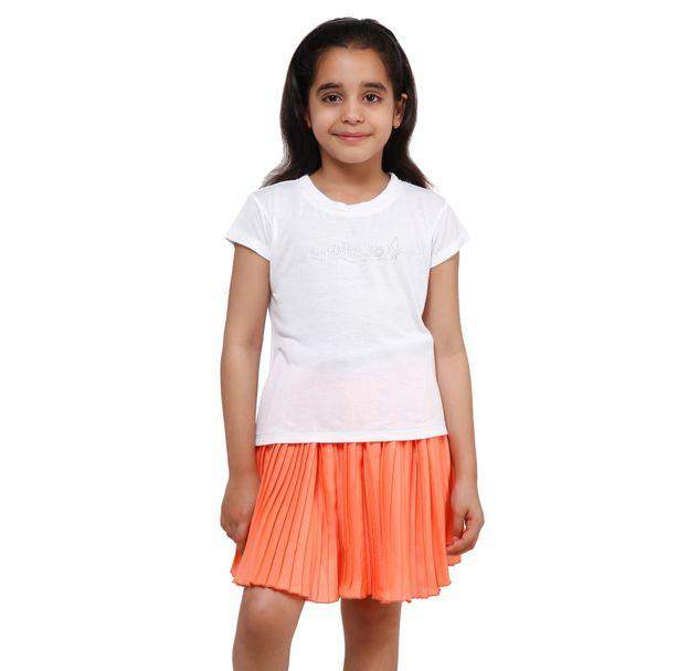 Girls White-T-Shirt