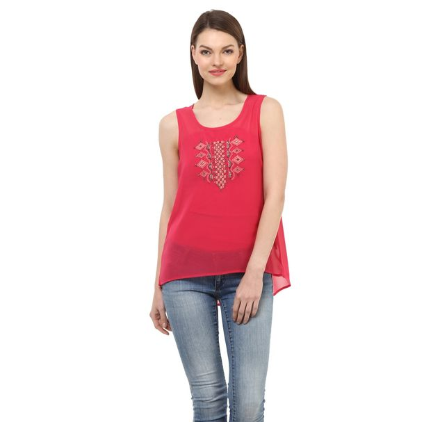 Women Pink Party Top