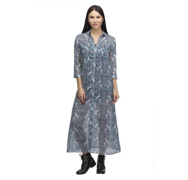 Women Paisley Shirt Dress
