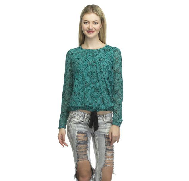 Women Green Top