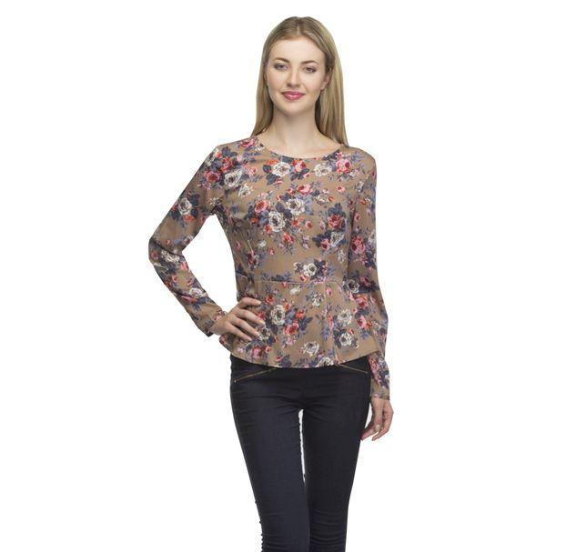 Women Floral Peplum Top