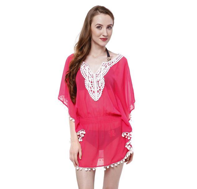 Women Pink Beachwear Coverup