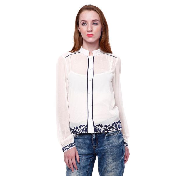 Women Off-White Shirt