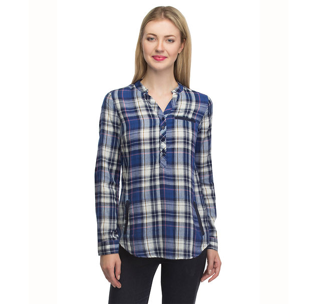 Women Blue Cotton Top