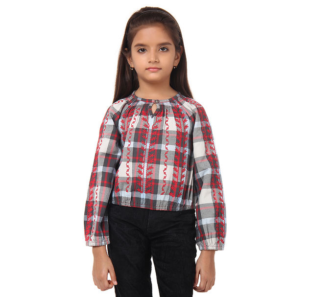 Girl Cotton Embroidered Top
