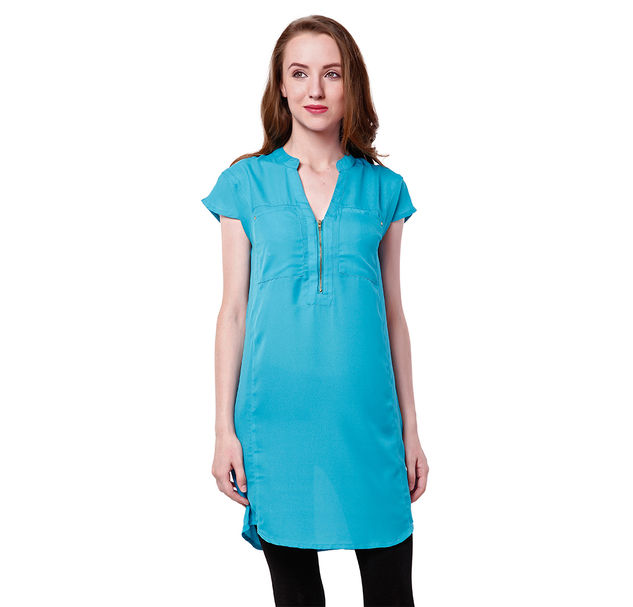 Women Light Blue Tunic