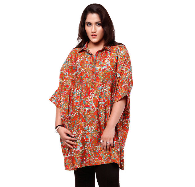 Plus Size Paisley Tunic
