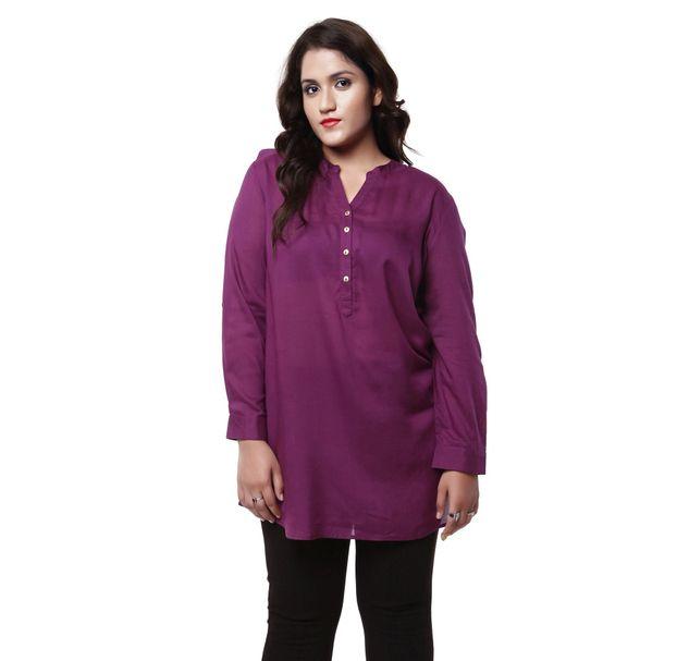 Plus Size Purple Tunic