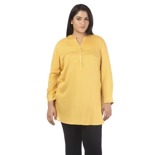 Plus Size Yellow Tunic