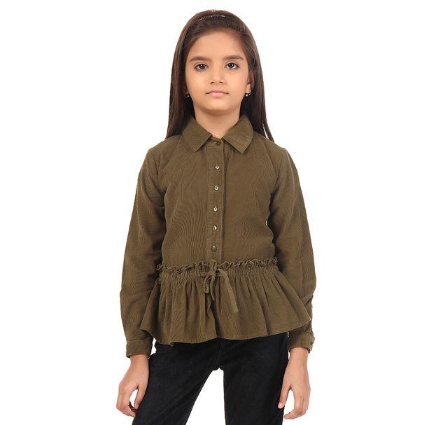 Girl Brown Cotton Top