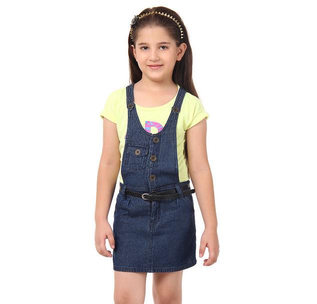 Girl Stylish Denim Dress