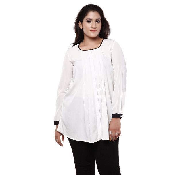 Plus Size White Tunic