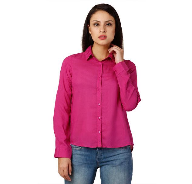 Women Pink Smart Shirt