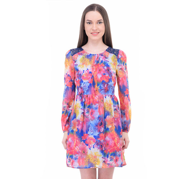 Women Lace A-Line Dress