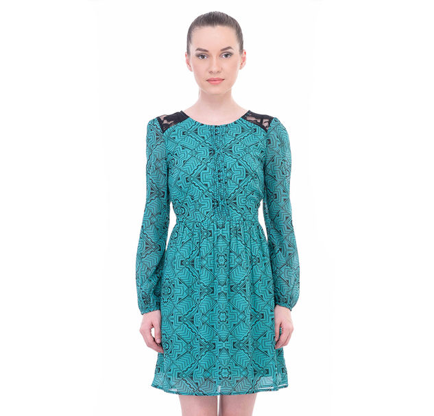 Women A-Line Lace Dress