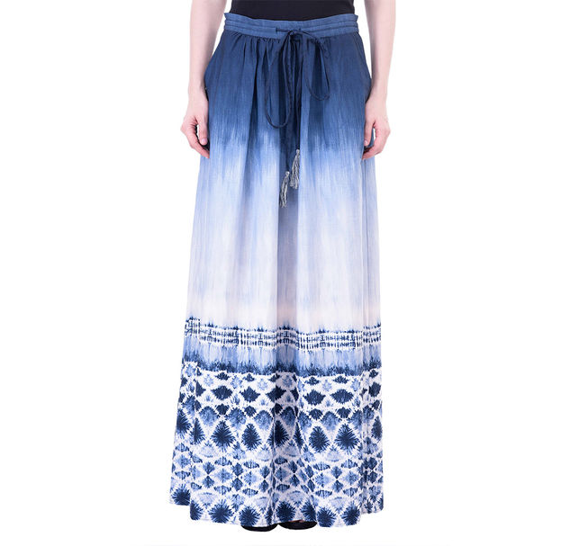 Women Blue Maxi Skirt