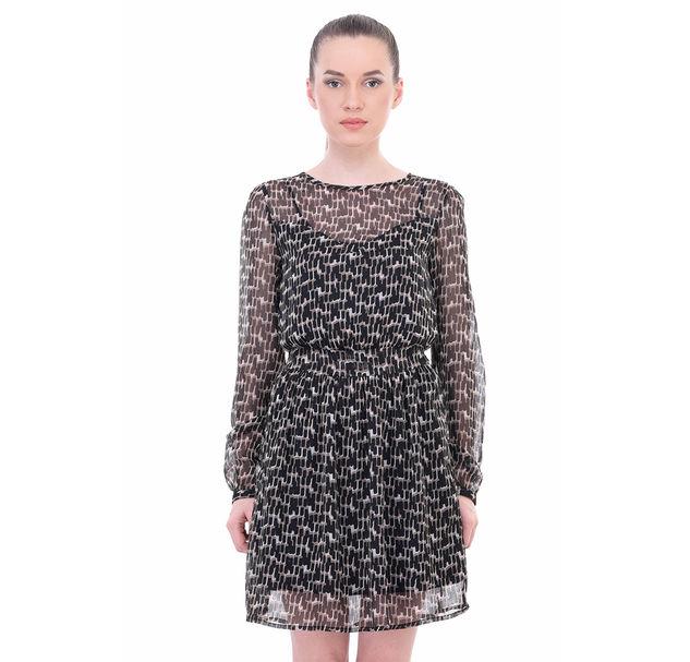 Women A-Line Sheer Dress