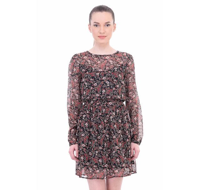 Women Sheer Floral Dress