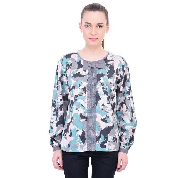 Women Bird Lace Top