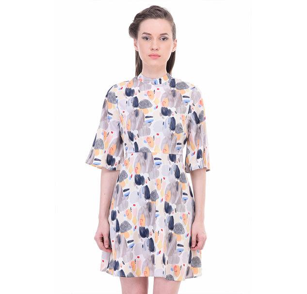 Women Abstract A-Line Dress
