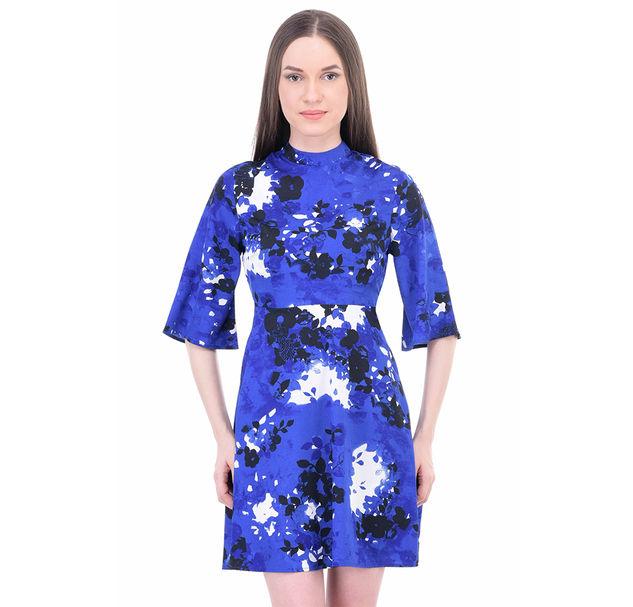 Women Blue A-Line Dress