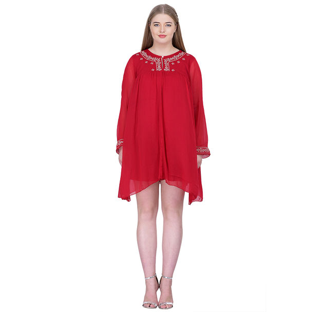 Plus Red Party Dress
